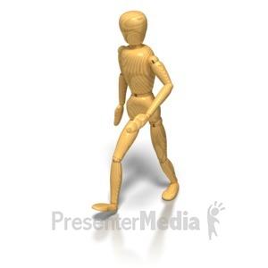 ID# 6679 - Artist Mannequin Walk - Presentation Clipart
