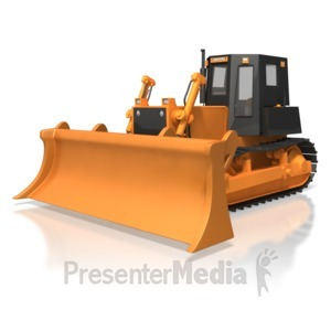 ID# 6685 - Bulldozer Parked - Presentation Clipart