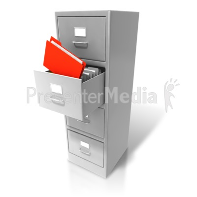 Office Cabinet Pull Out Files PowerPoint Clip Art