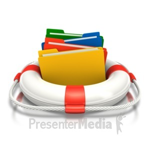 ID# 6694 - Save Your Files - Presentation Clipart