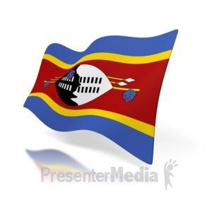ID# 6696 - Swaziland Flag - Presentation Clipart