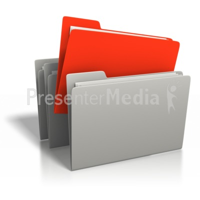 File Stand Out PowerPoint Clip Art
