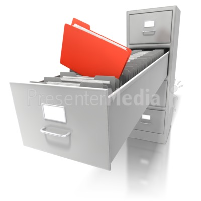 deep file cabinet - education and school - great clipart for