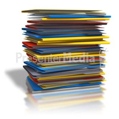 Presenter media powerpoint templates 3d animations and clipart id 6706 pile of folders presentation clipart publicscrutiny Images