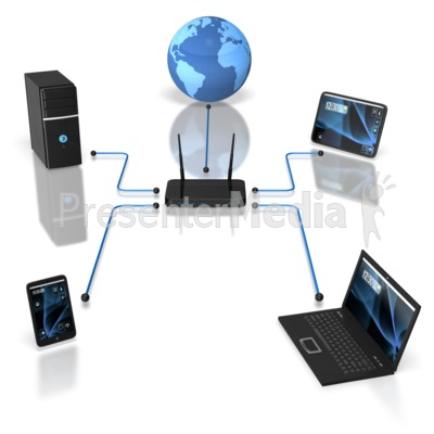 Wireless Device Network Presentation clipart