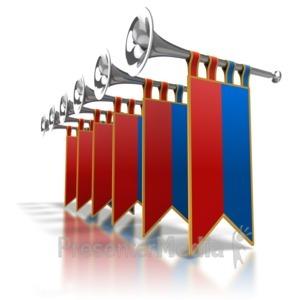ID# 6794 - Trumpet Line Fanfare - Presentation Clipart