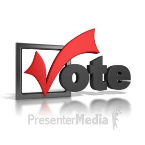ID# 6802 - Vote Checkmark - Presentation Clipart