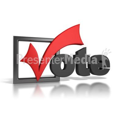 Vote Checkmark PowerPoint Clip Art