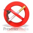 ID# 6805 - Smoking Prohibited Symbol - Presentation Clipart
