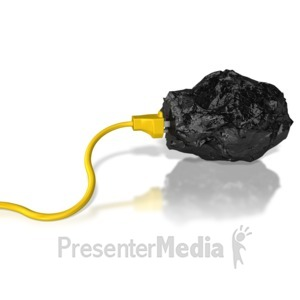 ID# 6817 - Coal Energy Power Extract - Presentation Clipart