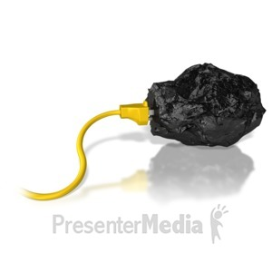 ID# 6819 - Coal Energy Cord Faded - Presentation Clipart