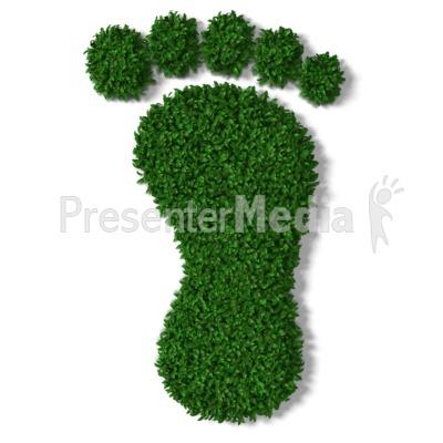 Green Grass Footprint PowerPoint Clip Art