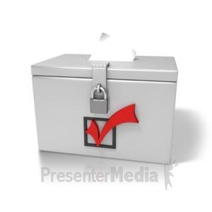 ID# 6830 - Ballot Box - Presentation Clipart