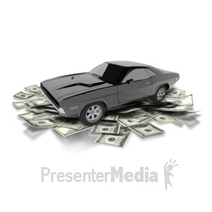 ID# 6840 - Car Money Investment - Presentation Clipart