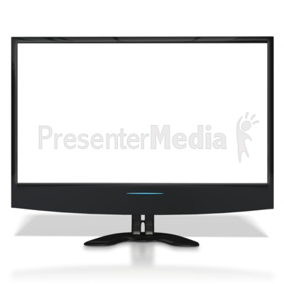Flat Screen TV With See Through Screen PowerPoint Clip Art