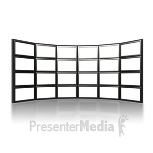 ID# 6856 - Video Wall - Presentation Clipart