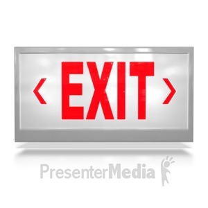 ID# 6864 - Exit Sign - Presentation Clipart