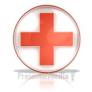 ID# 6872 - Hospital Health Cross Button - Presentation Clipart