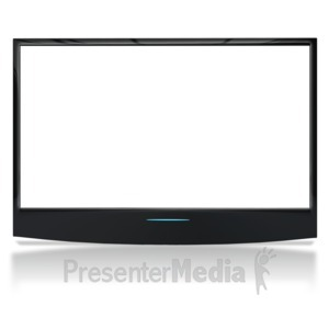 ID# 6874 - See Though Flat Screen No Stand - Presentation Clipart