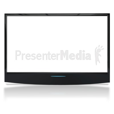 See Though Flat Screen No Stand PowerPoint Clip Art