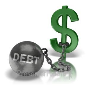 ID# 6887 - Ball N Chain Money - Presentation Clipart