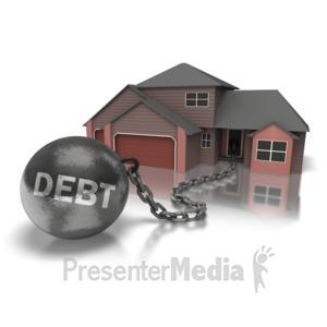 ID# 6892 - Ball N Chain House - Presentation Clipart