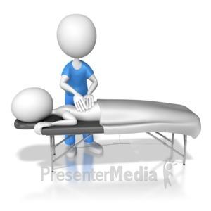 ID# 6895 - Getting Therapeutic Massage - Presentation Clipart