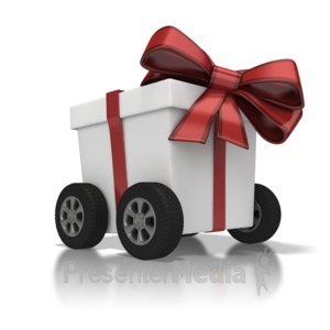 ID# 6903 - Gift Delivery - Presentation Clipart