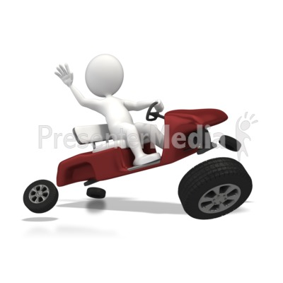 Wheels Came Off PowerPoint Clip Art