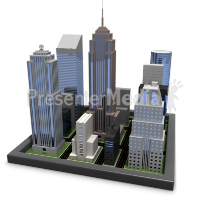 City Blocks PowerPoint Clip Art