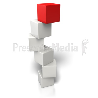 Top Box Stand Out PowerPoint Clip Art