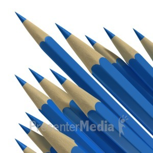 ID# 6920 - Pencil Points - Presentation Clipart