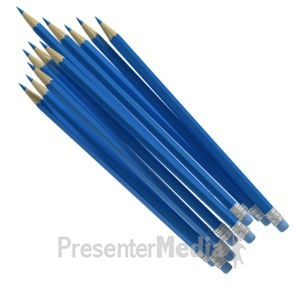 ID# 6927 - Pencil Cluster - Presentation Clipart