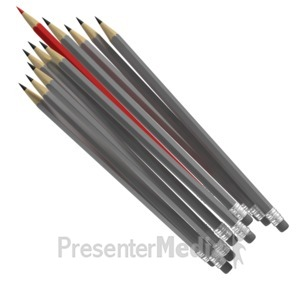 ID# 6928 - Pencil Cluster Standout - Presentation Clipart
