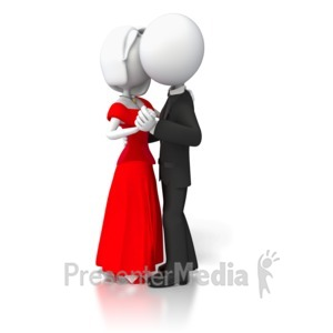 ID# 6945 - Couple Slow Dancing - Presentation Clipart