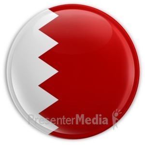 ID# 6952 - Badge Button Bahrain Flag - Presentation Clipart