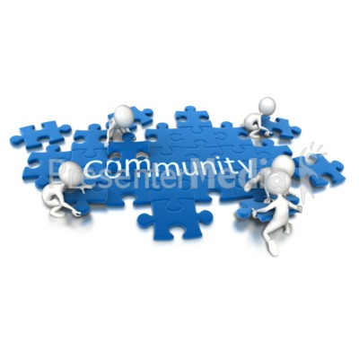 Puzzle Pieces Community Teamwork PowerPoint Clip Art