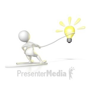 ID# 6982 - Rope An Idea - Presentation Clipart