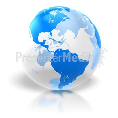 World Transparent Glass PowerPoint Clip Art