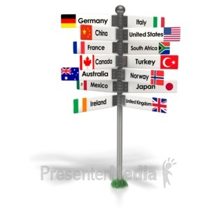 ID# 7006 - Travel The World Sign - Presentation Clipart