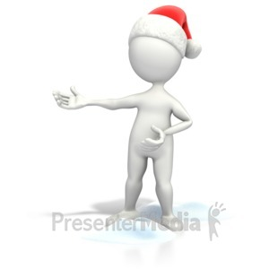 ID# 7011 - Christmas Figure Presenting - Presentation Clipart