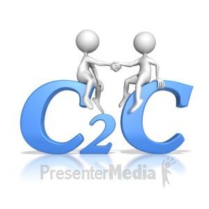 ID# 7038 - Customer to Customer Hand Shake - Presentation Clipart