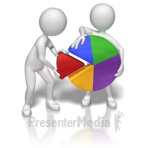 ID# 7043 - Teamwork Pie Chart - Presentation Clipart
