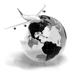 ID# 7044 - Flight Across The World - Presentation Clipart