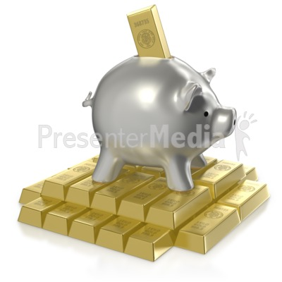 Investing in Gold PowerPoint Clip Art