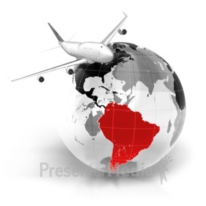 ID# 7061 - Flight To South America - Presentation Clipart