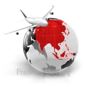 ID# 7069 - Flight To Asia - Presentation Clipart