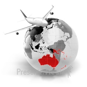 ID# 7073 - Flight To Australia - Presentation Clipart