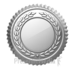 ID# 7120 - Silver Seal - Presentation Clipart