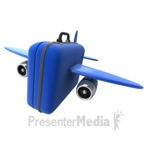 ID# 7123 - Luggage Travel Flight - Presentation Clipart